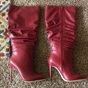 Red Heeled Boots NWOT